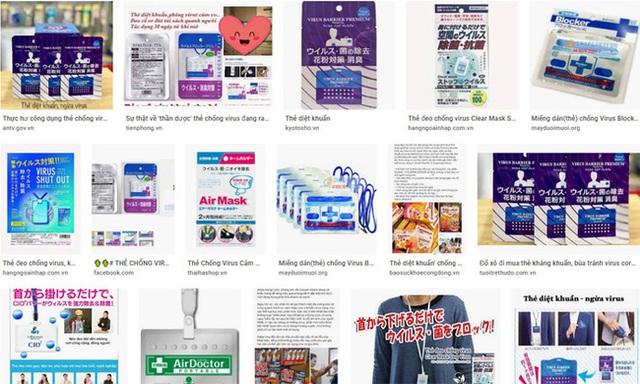Tràn lan các loại thẻ được quảng cáo công dụng diệt khuẩn, chống virus corona Covid-19 trên mạng: Chuyên gia nói gì? - Ảnh 2.