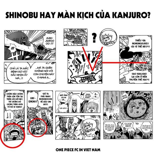 One Piece: Shinobu liệu có còn sống hay đó chỉ là màn kịch hoàn hảo do Kanjuro dựng nên để đánh lừa nhóm Cửu Hồng Bao? - Ảnh 1.