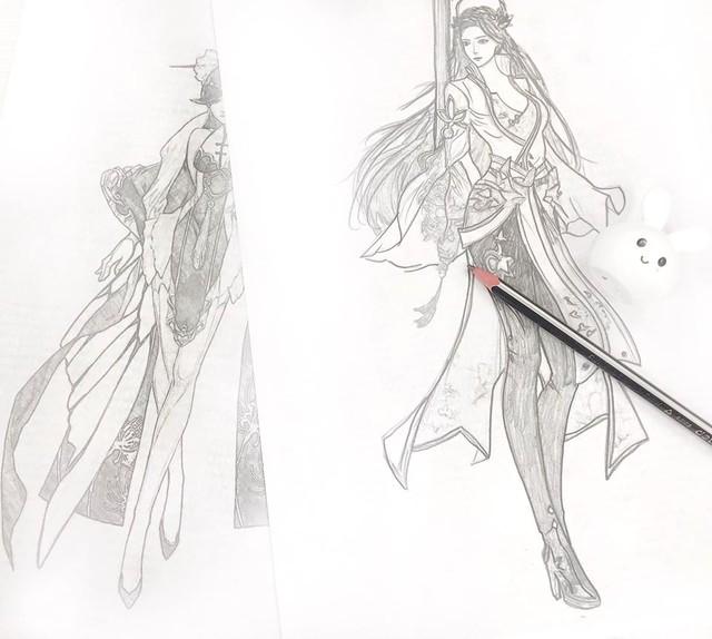 Chờ check lỗi, cô nàng họa bút chính nhân vật ingame của mình nhưng nhan sắc lai Thái mới chính là điểm nhấn - Ảnh 4.