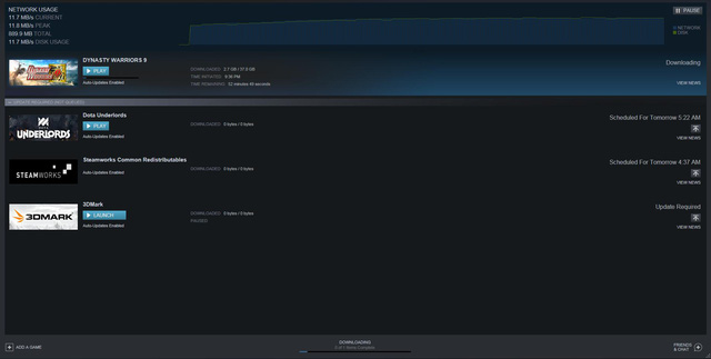 Với khoảng 40GB dành cho game thì bạn cũng phải mất 1 tiếng chờ đợi lỡ gặp hôm đứt cáp thì con số này có thể gấp 10 lần!