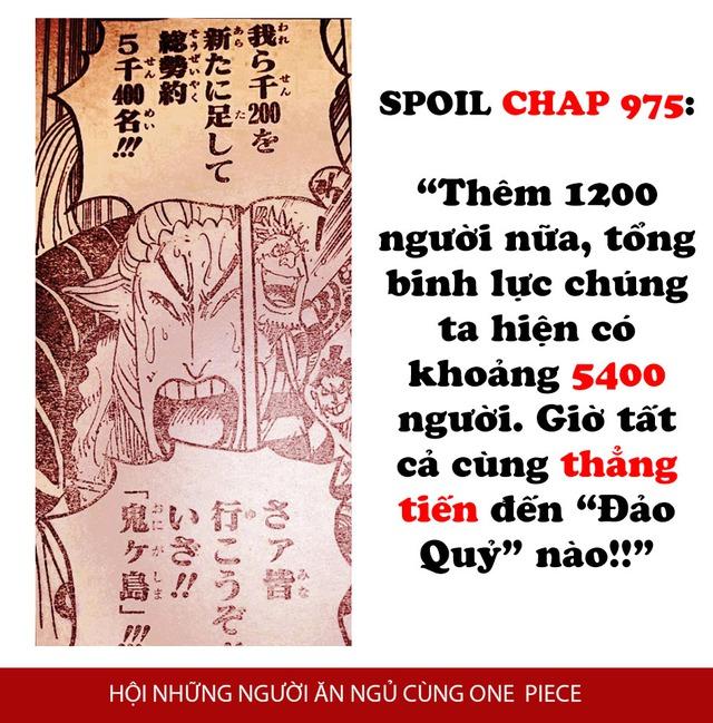 One Piece Chapter 975: Denjiro mang 1.200 Samurai tinh nhuệ hội quân, Luffy cùng 5.400 anh em tiến đánh Kaido - Ảnh 2.