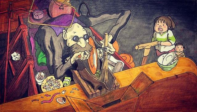 Đục khoét tuổi thơ: Hô biến nhân vật hoạt hình Ghibli thành phiên bản béo ú, mắt híp - Ảnh 2.