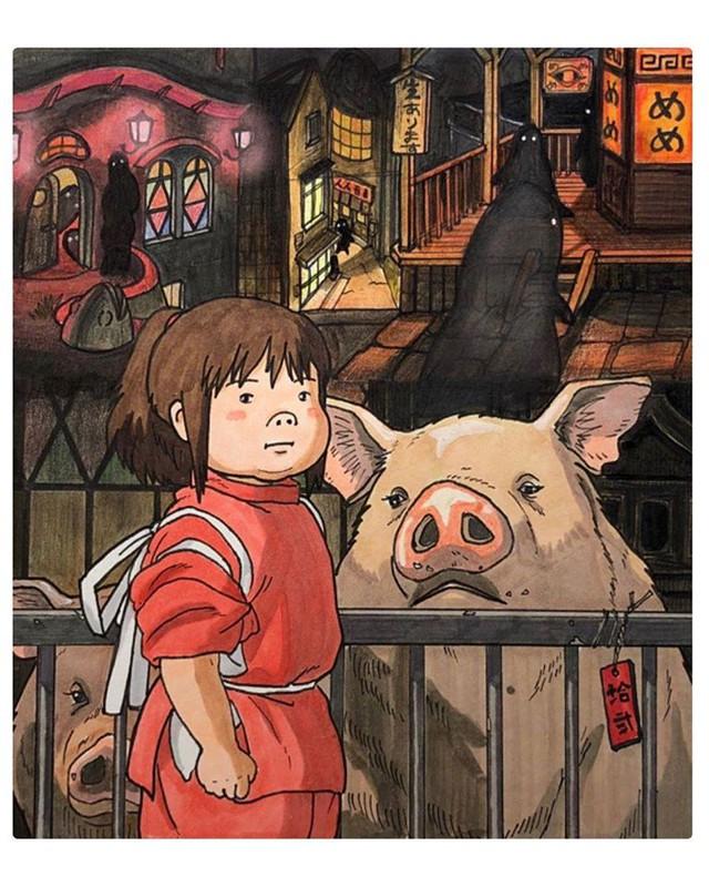 Đục khoét tuổi thơ: Hô biến nhân vật hoạt hình Ghibli thành phiên bản béo ú, mắt híp - Ảnh 3.