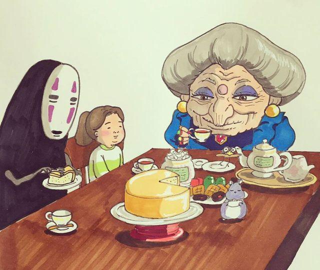 Đục khoét tuổi thơ: Hô biến nhân vật hoạt hình Ghibli thành phiên bản béo ú, mắt híp - Ảnh 5.