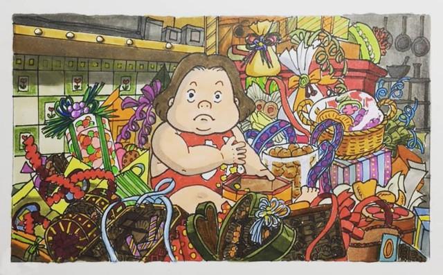 Đục khoét tuổi thơ: Hô biến nhân vật hoạt hình Ghibli thành phiên bản béo ú, mắt híp - Ảnh 7.