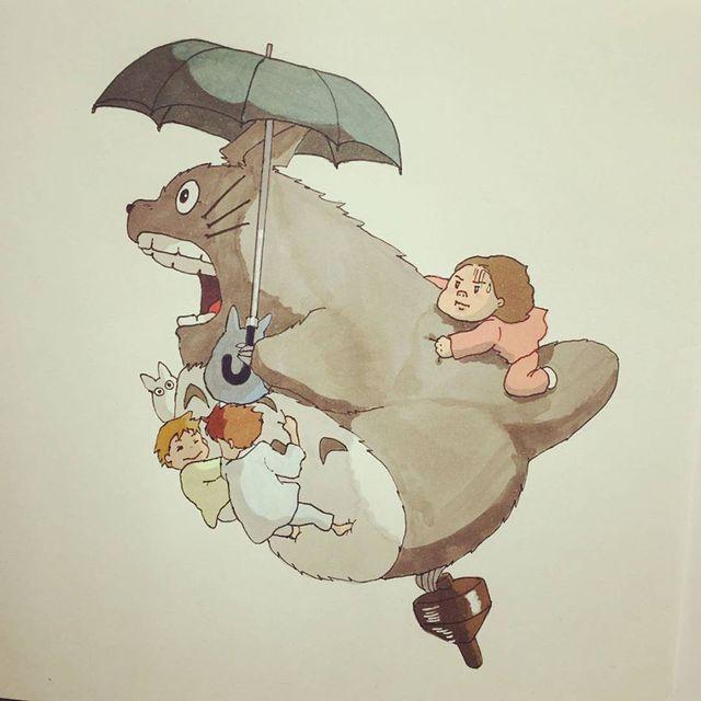 Đục khoét tuổi thơ: Hô biến nhân vật hoạt hình Ghibli thành phiên bản béo ú, mắt híp - Ảnh 16.