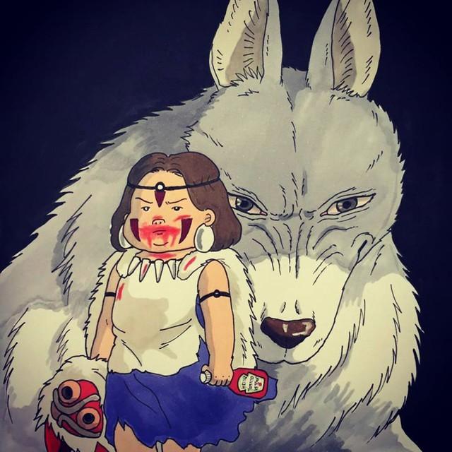 Đục khoét tuổi thơ: Hô biến nhân vật hoạt hình Ghibli thành phiên bản béo ú, mắt híp - Ảnh 17.