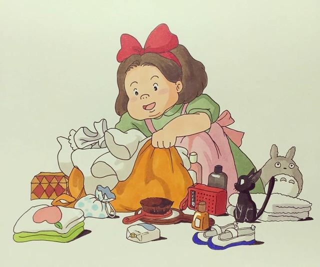 Đục khoét tuổi thơ: Hô biến nhân vật hoạt hình Ghibli thành phiên bản béo ú, mắt híp - Ảnh 23.