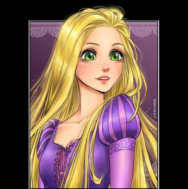 Ngẩn ngơ khi ngắm các nàng công chúa Disney được vẽ theo phong cách anime, đã đẹp nay còn đẹp hơn - Ảnh 4.