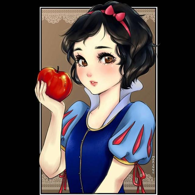 Ngẩn ngơ khi ngắm các nàng công chúa Disney được vẽ theo phong cách anime, đã đẹp nay còn đẹp hơn - Ảnh 11.