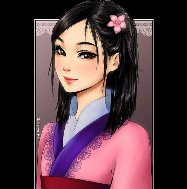 Ngẩn ngơ khi ngắm các nàng công chúa Disney được vẽ theo phong cách anime, đã đẹp nay còn đẹp hơn - Ảnh 14.