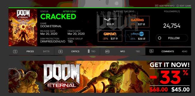 Vừa phát hành được mấy tiếng, Doom Eternal đã bị crack trong nháy mắt - Ảnh 2.