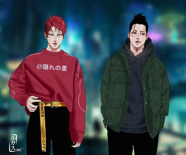 Naruto và các shinobi lừng danh xuyên không đến thế giới hiện đại qua loạt fan art cực chất - Ảnh 5.
