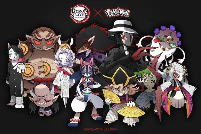 Loạt tranh vẽ Pokemon x Kimetsu no Yaiba cực ngầu được fan hâm mộ rần rần khen ngợi - Ảnh 12.