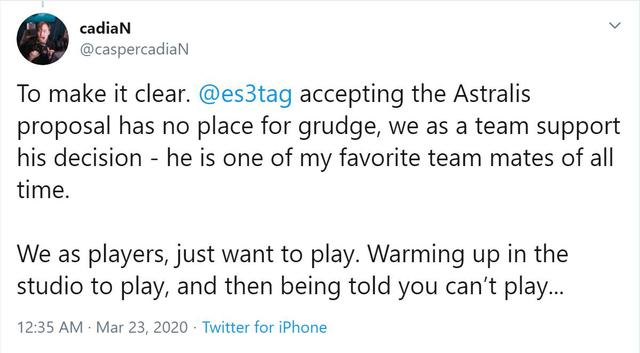 CS:GO - Toàn cảnh thương vụ Astralis mở rộng đội hình lên 6 thành viên với sự gia nhập của es3tag - Ảnh 5.