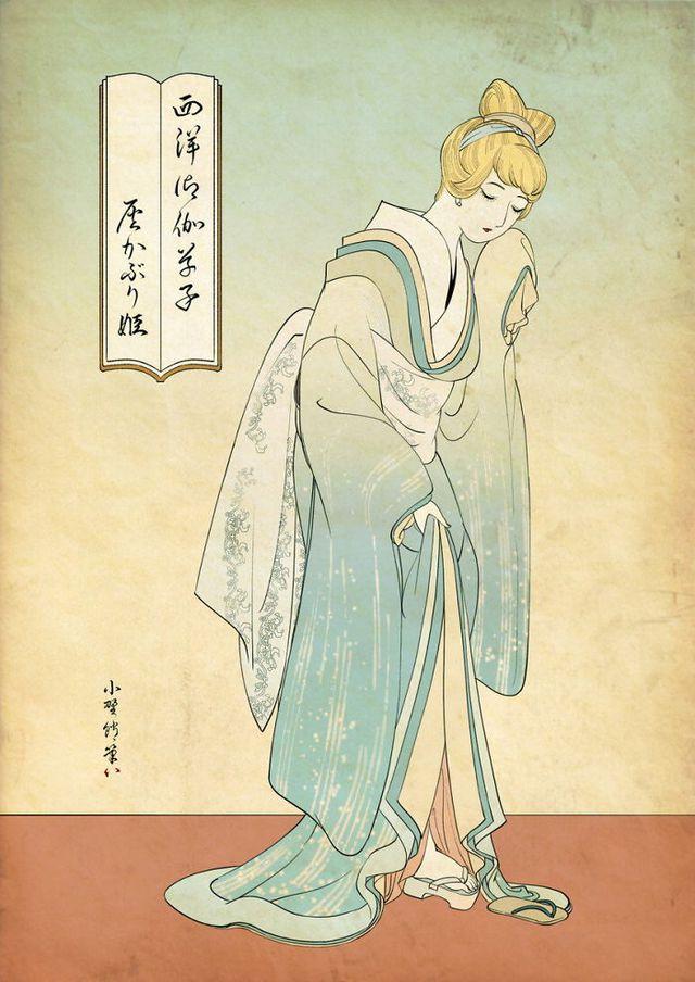 Công chúa Disney qua bàn tay ma thuật của nghệ sĩ được tái hiện theo phong cách truyền thống Nhật Bản - Ảnh 3.