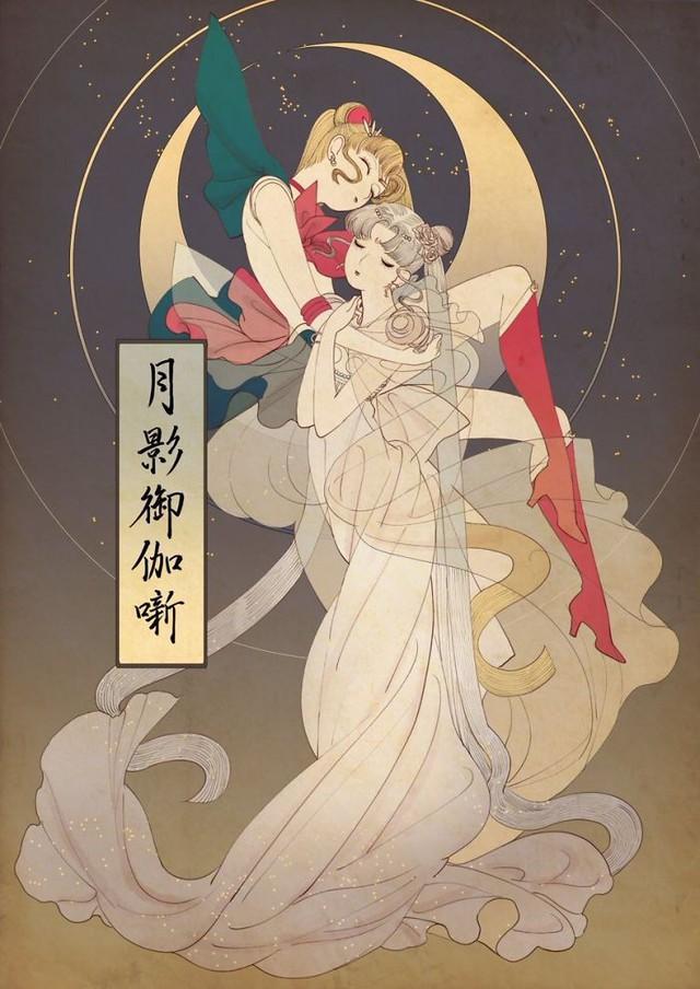 Công chúa Disney qua bàn tay ma thuật của nghệ sĩ được tái hiện theo phong cách truyền thống Nhật Bản - Ảnh 8.