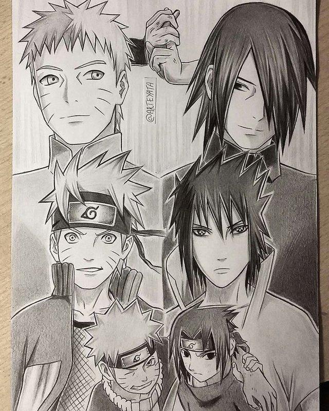 Loạt fan art Naruto toát lên vẻ ma mị đầy cuốn hút khiến người xem không thể rời mắt - Ảnh 15.