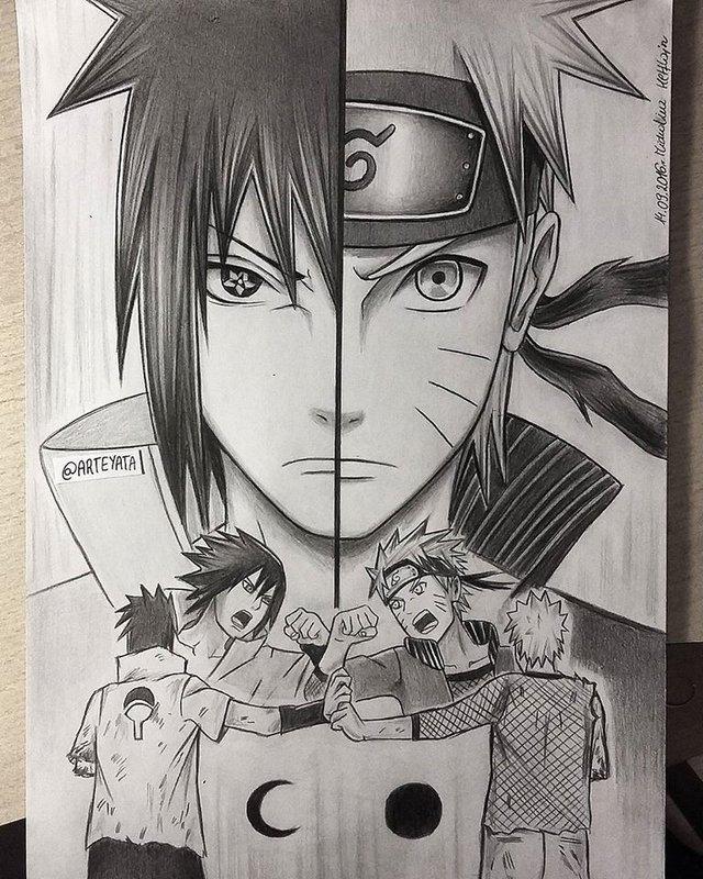 Loạt fan art Naruto toát lên vẻ ma mị đầy cuốn hút khiến người xem không thể rời mắt - Ảnh 10.