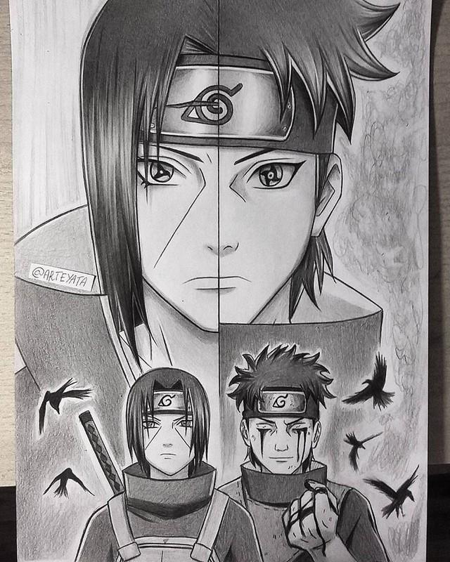 Loạt fan art Naruto toát lên vẻ ma mị đầy cuốn hút khiến người xem không thể rời mắt - Ảnh 6.