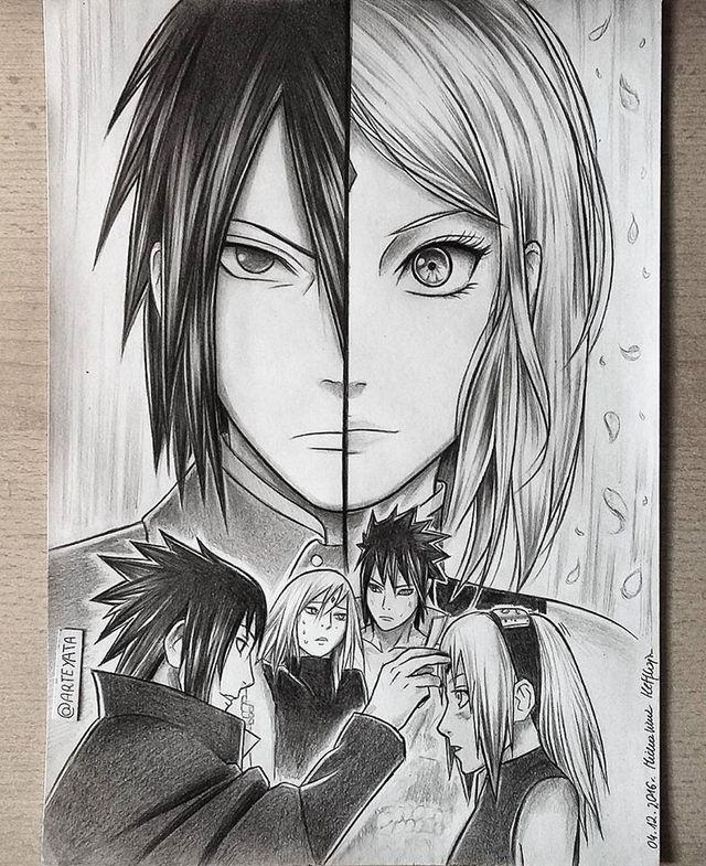 Loạt fan art Naruto toát lên vẻ ma mị đầy cuốn hút khiến người xem không thể rời mắt - Ảnh 5.