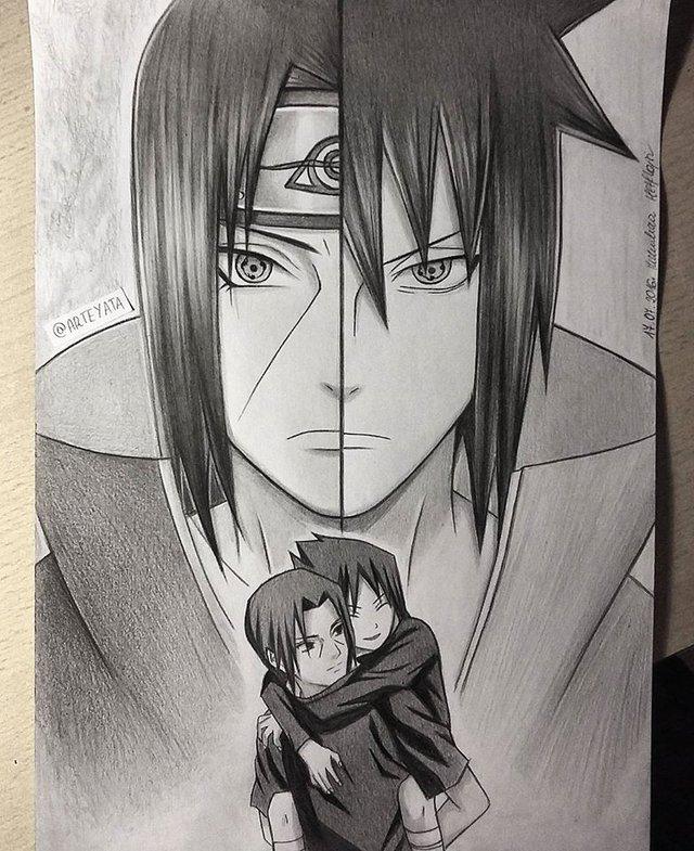 Loạt fan art Naruto toát lên vẻ ma mị đầy cuốn hút khiến người xem không thể rời mắt - Ảnh 4.
