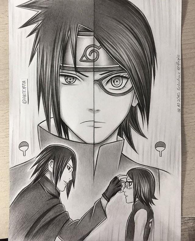 Loạt fan art Naruto toát lên vẻ ma mị đầy cuốn hút khiến người xem không thể rời mắt - Ảnh 2.