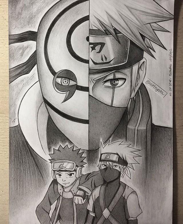 Loạt fan art Naruto toát lên vẻ ma mị đầy cuốn hút khiến người xem không thể rời mắt - Ảnh 3.