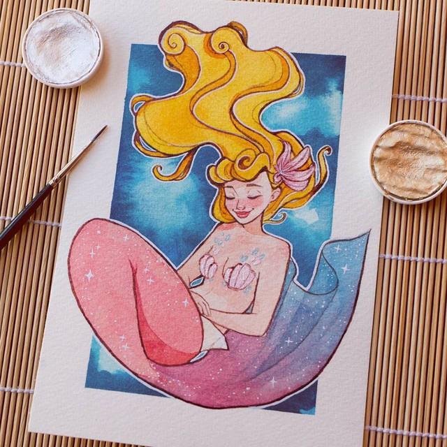 Các nàng công chúa Disney hóa thân thành nàng tiên cá, ai mới là người xinh đẹp nhất? - Ảnh 3.