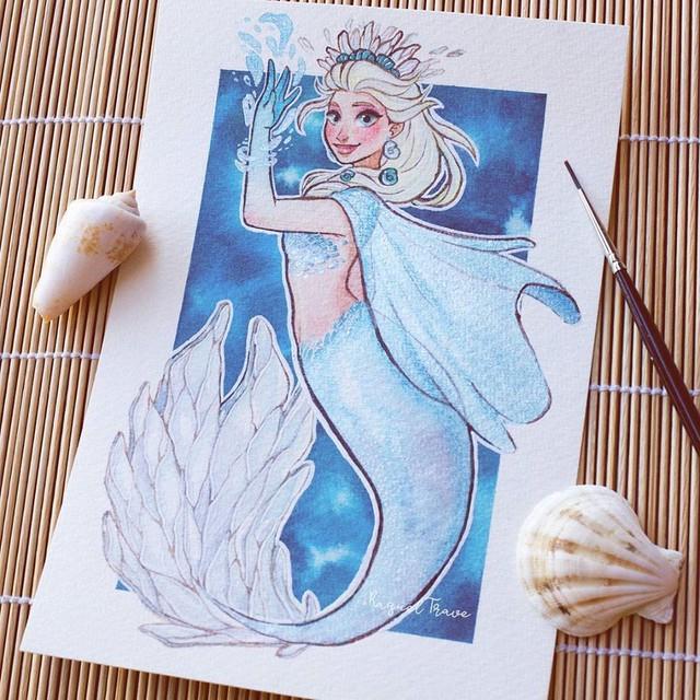 Các nàng công chúa Disney hóa thân thành nàng tiên cá, ai mới là người xinh đẹp nhất? - Ảnh 4.