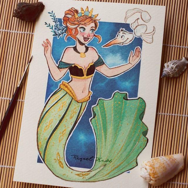 Các nàng công chúa Disney hóa thân thành nàng tiên cá, ai mới là người xinh đẹp nhất? - Ảnh 5.
