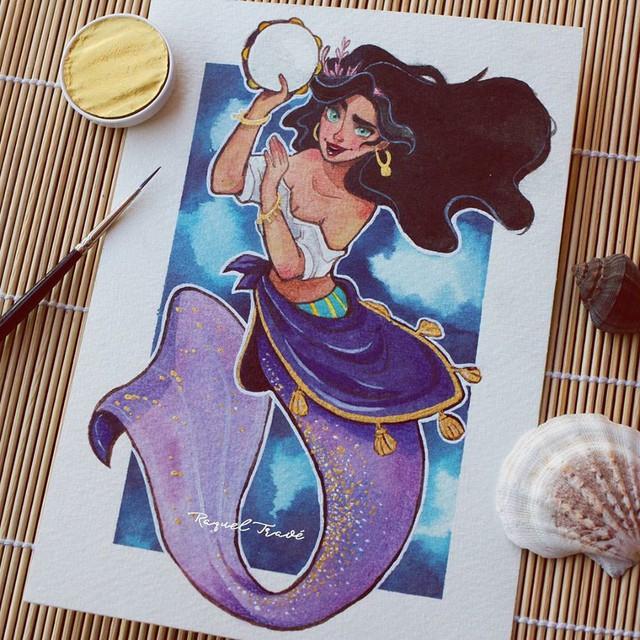 Các nàng công chúa Disney hóa thân thành nàng tiên cá, ai mới là người xinh đẹp nhất? - Ảnh 6.
