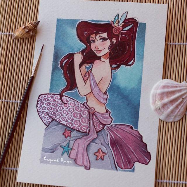 Các nàng công chúa Disney hóa thân thành nàng tiên cá, ai mới là người xinh đẹp nhất? - Ảnh 9.