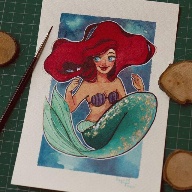 Các nàng công chúa Disney hóa thân thành nàng tiên cá, ai mới là người xinh đẹp nhất? - Ảnh 12.