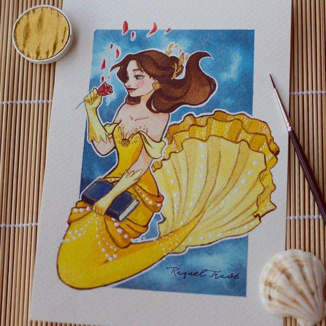 Các nàng công chúa Disney hóa thân thành nàng tiên cá, ai mới là người xinh đẹp nhất? - Ảnh 14.