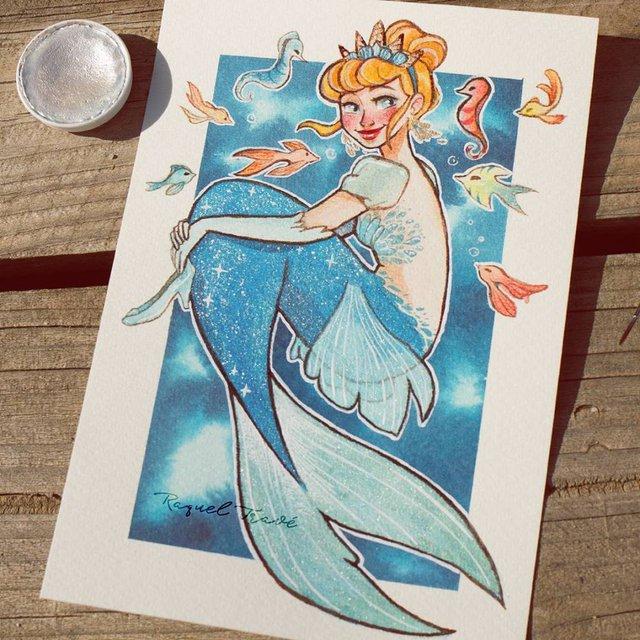 Các nàng công chúa Disney hóa thân thành nàng tiên cá, ai mới là người xinh đẹp nhất? - Ảnh 16.