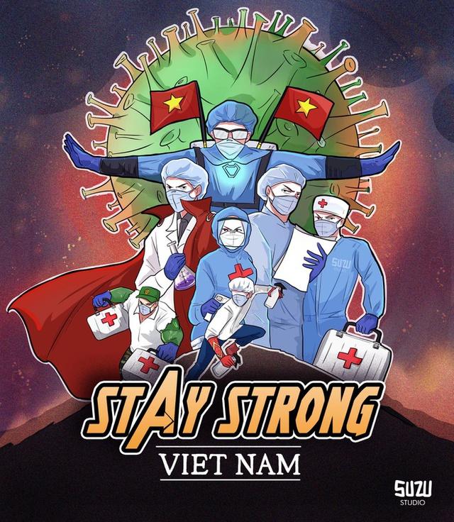 Ấn tượng với loạt tranh các bác sĩ Việt hóa thân thành anh hùng Marvel chống lại dịch bệnh - Ảnh 1.