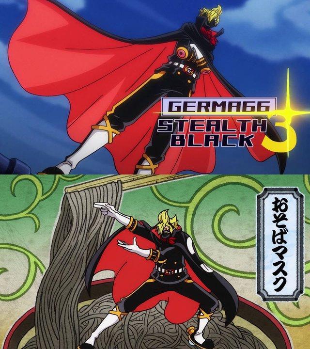 One Piece: Dù cực ngầu trong bộ đồ Raid Suit, màn xuất hiện của Sanjiđ được cho là rất giống biệt đội Ginyu trong Dragon Ball - Ảnh 2.