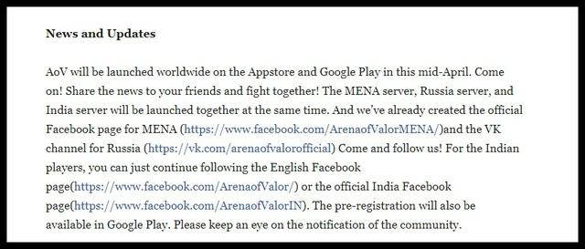 Liên Quân Mobile sắp phát hành bản MENA và Nga, Tencent hứa hẹn hồi sinh bản Ấn Độ - Ảnh 2.