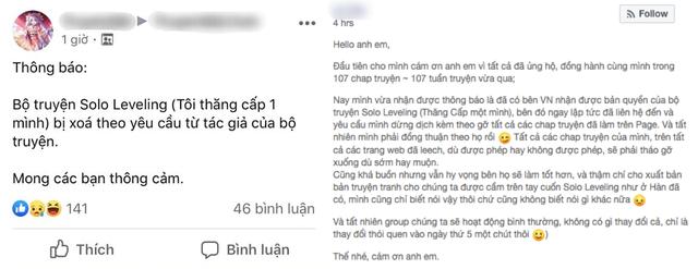 Các nhóm dịch Solo Leveling bất ngờ bị yêu cầu xóa truyện, sắp xuất hiện bản chính thức được phát hành tại Việt Nam? - Ảnh 3.