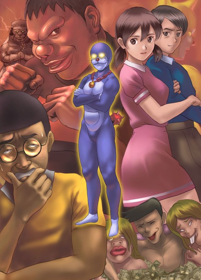 Loạt tranh siêu bựa về nhóm bạn Doraemon khiến ai xem cũng phải cười ngất - Ảnh 5.