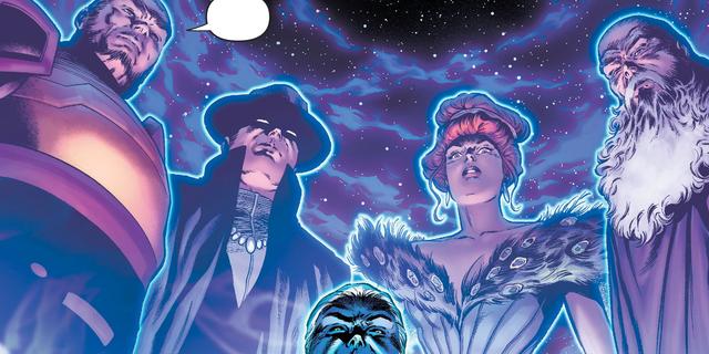 Justice League thất bại từ trước khi cuộc chiến giữa Apex Lex và Batman Who Laughs xảy ra, nhưng may mắn được cứu mạng bởi hội đồng thực thể Quintessence.