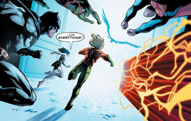 Justice League nắm lấy cơ hội thứ hai, bước qua cánh cửa mà không biết rằng điều gì đang chờ đợi họ ở đằng sau.