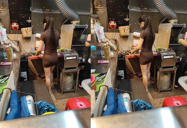 Bị chụp lén cảnh bán gà rán trong chợ, cô nàng được cộng đồng mạng phong hot girl chỉ sau một bài post - Ảnh 1.