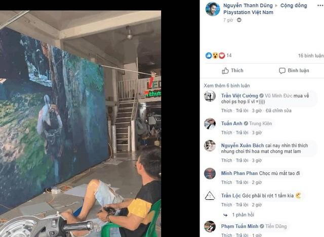 Game thủ Việt ráp màn hình siêu to khổng lồ hàng trăm inch giá 90 triệu để cắm PS4 chơi God Of War - Ảnh 3.