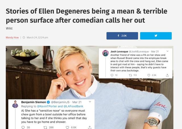 Twitter chao đảo với những câu chuyện vạch trần bà hoàng Talkshow Ellen DeGeneres - Ảnh 2.