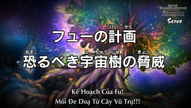 Super Dragon Ball Heroes Bigbang Mission: Hé lộ kế hoạch thật sự của Fu, muốn dùng Cây Vũ Trụ tạo ra thế giới mới - Ảnh 1.