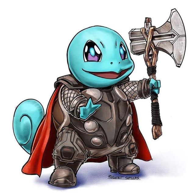 Siêu anh hùng Marvel biến thành Pokémon siêu dễ thương nhưng vẫn chất hơn nước cất - Ảnh 2.
