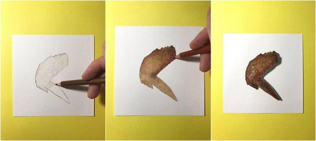 Nghệ sĩ Nhật vẽ tranh siêu thực khiến người xem cứ ngỡ như đang nhìn một con mực sống trước mặt - Ảnh 3.
