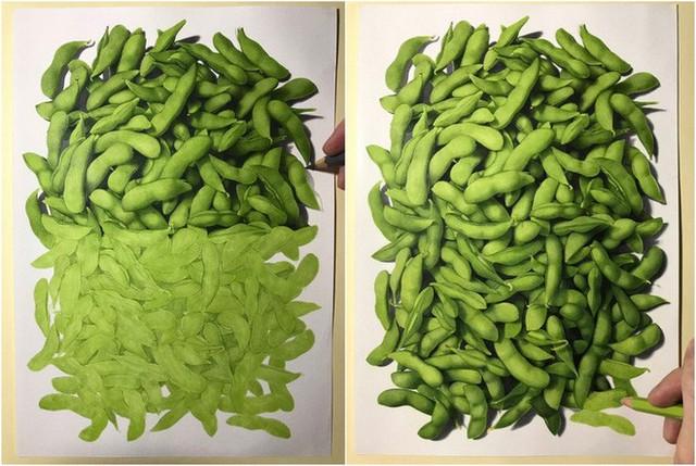 Nghệ sĩ Nhật vẽ tranh siêu thực khiến người xem cứ ngỡ như đang nhìn một con mực sống trước mặt - Ảnh 4.